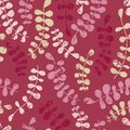 Vector floral seamless pattern with abstract leaves. Color vecto
