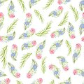 Vector floral seamless pattern 2