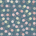 Vector floral seamless pattern in vintage colors and swatch menu can be used for wallpapers Royalty Free Stock Images
