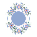 Vector floral vignette in the form of a circle. Romantic frame for invitations, cards, stickers wedding, birthday
