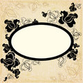 Vector Floral vintage frame Royalty Free Stock Photo