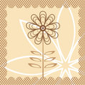 Vector flower Stock Photography