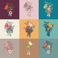 Vector flower bouquet, collection, botanical and floral decorati Royalty Free Stock Photo