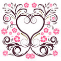 Vector flower heart Stock Photography