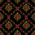 Vector flower seamless pattern background. Elegant texture for backgrounds.