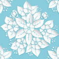 Vector flower seamless pattern element. Elegant texture for backgrounds. 3D elements with shadows and highlights.