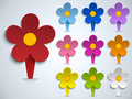 Vector flower spring pin sticker icon Royalty Free Stock Photography