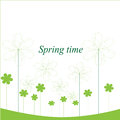 Vector flower spring time Royalty Free Stock Photo