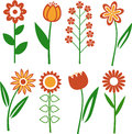 Vector flowers collection of different Royalty Free Stock Photography