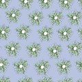 Vector flowers ornament on a blue background