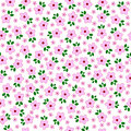 Vector flowers seamless patter flowers background eps Royalty Free Stock Photos