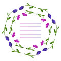 Vector flowers set. Colorful floral collection with leaves and f