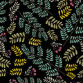 Vector foliage pattern Royalty Free Stock Photography