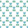 Vector folk art pattern - Scandinavian, Nordic style seamless pattern background