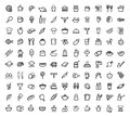 Vector food icons set this is file of eps format Royalty Free Stock Photo