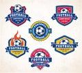 Vector football or soccer logos