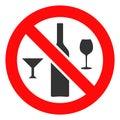 stock image of  Vector Forbidden Wine Drinks Icon