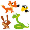 Vector forest animals Stock Images