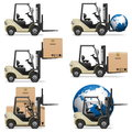 Vector forklifts on white background Stock Image