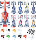 Vector formula cars and flags Stock Photos