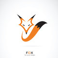 Vector of a fox design on white background.