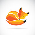Vector of a fox design on a white background.