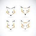 Vector of a fox face design on white background.