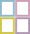 Vector frame in 4 color shades Stock Image