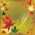 Vector frame with Autumn Leafs. Thanksgiving Royalty Free Stock Photo