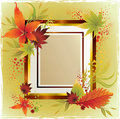 Vector frame with autumn leafs. Thanksgiving Royalty Free Stock Image