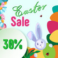 Vector frame for sale for the holiday of Easter.