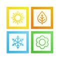 Vector frame of seasons.