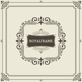 Vector Frame Template. Vintage Ornament Greeting Card. Flourishes Ornament Retro Royal Luxury Invitation, Certificate