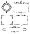 Vector frame for your text ornate banner Royalty Free Stock Photos