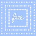 Vector of free tag free sign free label illustration eps great for any use Royalty Free Stock Image