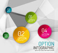 Vector fresh business abstract infographics on d triangular background Stock Photography