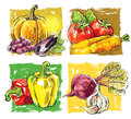 Vector fresh farm hand drawn picture of Royalty Free Stock Photos