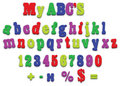 Vector fridge magnet alphabet spelling letters Stock Images