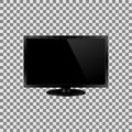 Vector frontal view of led or lcd internet tv monitor. Royalty Free Stock Photo
