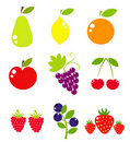 Vector fruit collection Stock Photography