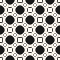 Vector funky geometric seamless pattern with circles and squares Royalty Free Stock Photo