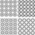 Vector funky geometrical seamless patterns set Royalty Free Stock Photos