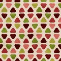 Vector funky retro seamless pattern Royalty Free Stock Photo