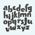 Vector funny alphabet for children.