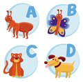 Vector funny cartoon alphabet Royalty Free Stock Image