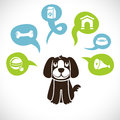 Vector funny cartoon dog Stock Images