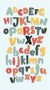 Vector funny comics font.