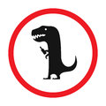 Vector funny road sign for bar or night club. Drunken dinosaur with bottle. Red attention signs. Flat design. Royalty Free Stock Photo
