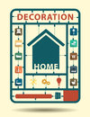 Vector furniture flat icons home decoration