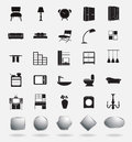 Vector furniture icons template design Royalty Free Stock Image